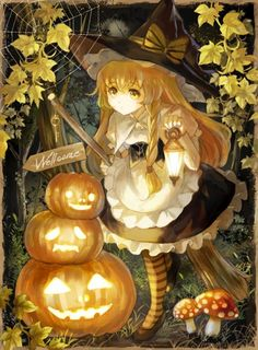 Safebooru is a anime and manga picture search engine, images are being updated hourly. Kawaii Anime Girl, Manga Kawaii, Anime Art Girl, Manga Anime, Anime Halloween, Halloween Items, Halloween Art, Fille Blonde Anime, Art Anime Fille