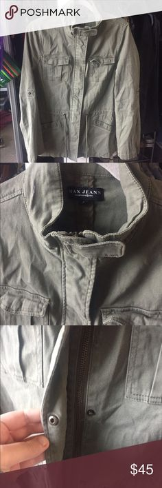 Max Jeans Military Jacket Great used condition! 100% Cotton Max Studio Jackets & Coats Utility Jackets