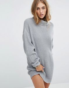 3232a281adf34 Discover Fashion Online Tricot Robe Pull, Robe En Tricot Grise, Robes De  Chandail,