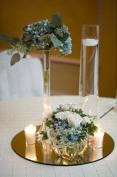 Centros de mesa con velas para bodas peinados de novia peinados de