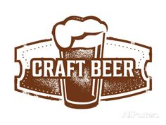 Vintage Style Craft Beer Sign Art by daveh900 at AllPosters.com