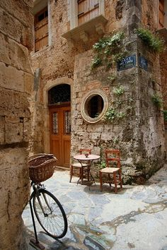 Ancient Street Corner, Isle of Crete, Greece. Ancient Street Corner, Isle of Crete, Greece. Places Around The World, Oh The Places You'll Go, Places To Travel, Around The Worlds, Vacation Places, Travel Destinations, Vacation Wear, Travel Tips, Tenerife