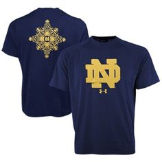 Notre Dame Fighting Irish Under Armour 2014 Shamrock Series Mosaic Wordmark Tech Performance T-Shirt - Navy Blue