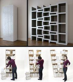 "Platzhalter bookcase | A estante ""transformer"""