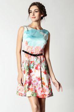 Cloud Floral Print Dress.