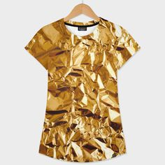 «Crumpled Golden Foil» - This numbered edition Women's T-Shirt, designed by DistinctyDesign, comes with a numbered and signed certificate of authenticity...