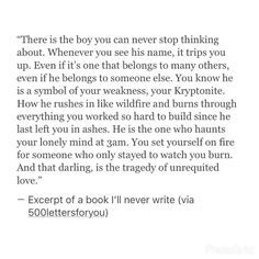 an excerpt from a book i'll never write Late Night Thoughts, Deep Thoughts, Sad Quotes, Life Quotes, Stop Thinking, Love Hurts, Heartbroken Quotes, Writing Quotes, Quote Aesthetic