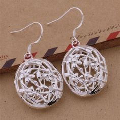 925 Sterling Silver Tale As Old As Time Earrings