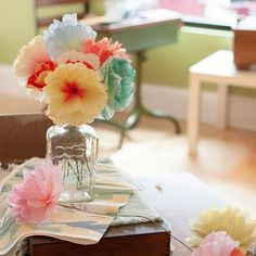 Hand-Dyed Paper Flowers - a perfect craft for summer!