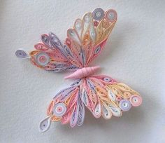 Could try quilling/bk pg crafts of things from fav. Arte Quilling, Quilling Jewelry, Quilling Butterfly, Paper Quilling Flowers, Paper Quilling Patterns, Quilled Paper Art, Quilling Paper Craft, Paper Crafts, Quilled Roses