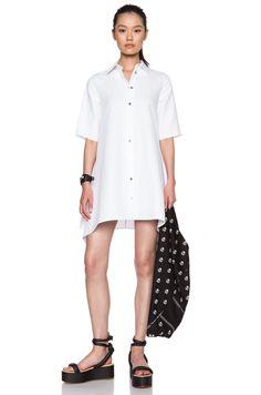 Image 1 of MM6 Maison Margiela Cotton-Blend Shirt Dress in White