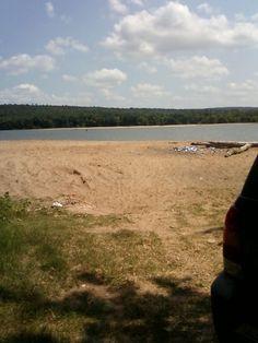 """""""beach"""" Arkansas river"""