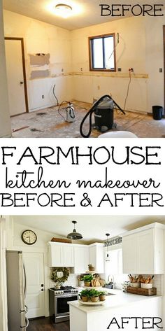 Farmhouse Kitchen Makeover -