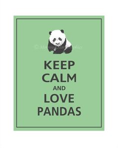 Absolutely!  I PIN THIS BECAUSE MY BESTIE LOVES PANDAS