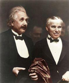 Charlie Chaplin with Albert Einstein at the premiere of City Lights 1931