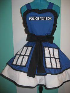 Fabulous TARDIS apron.