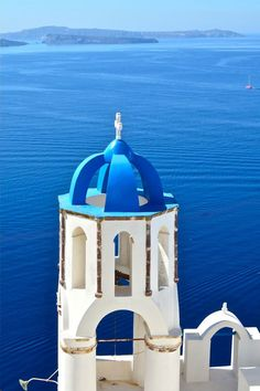 Blue on Blue, Oia, Santorini