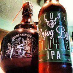 Stone Brewing beer growlers