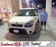#HappyAnniversary to Betty Clements on your 2012 #Kia #Soul from Andrew Temple at Southwest KIA Rockwall!