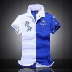 b53f711c summer new men's boutique embroidery breathable 100% cotton polo shirt  lapel Men's Air Force One polo shirt size M-XXL