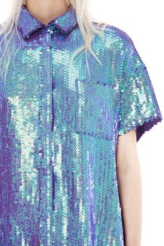 Rogue paillett purple sequin button up shirt #UNIQUE_WOMENS_FASHION
