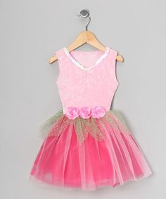 Take a look at this Pink Sequin Velvet Dress  by Princess Expressions on #zulily today!