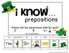 Teach Prepositions with this St. Patrick's day themed adapted book.  Where did the leprechaun hide his gold?