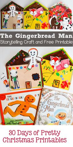 Gingerbread Man Storytelling Craft and Free Printables: 30 Days of Pretty Christmas Printables