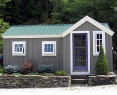 8x18 Heritage. Example shows optional off center/wooden french door + additional windows. Plans $19.95, Kits - 2 people 40 hours + Fully Assembled in the northeast. Kits ship *Free in the continental US + eastern Canada. http://jamaicacottageshop.com/shop/heritage/ http://jamaicacottageshop.com/wp-content/uploads/2013/12/her-8x18.pdf http://jamaicacottageshop.com/free-shipping/ #jamaicacottageshop #shed #sheds #cottagegardens #shedkits