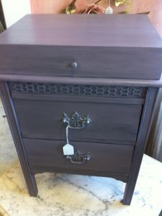 Petite Chest in Emile with a Graphite wash by Amy Chalmers of Maison Decor