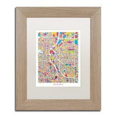 """Trademark Art """"Denver C"""" by Michael Tompsett Framed Graphic Art Size:"""