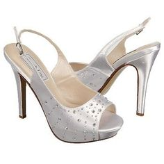 Sparkly White heels #Brides and #bridesmaids