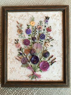 Antique Button Art Bouquet by warnANDweathered on Etsy
