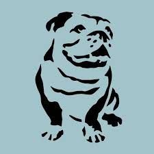 Resultado de imagen para plantillas stencil dog