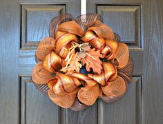 Small Fall Wreath by WelcomeHomeWreath. Perfect for the office!  $20.00