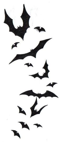 Not quite realistic enough silhouettes, but kinda the right idea for a bat spiral