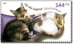 Stamp Germany 2004 MiNr2406 Schlafende Katzen.jpg
