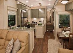Love the idea of a luxury RV.... Nice DRV.  The kitchen is impressive.