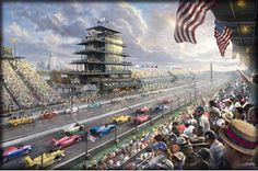 Indianapolis Motor Speedway, 100th Anniversary painting by Thomas Kinkade
