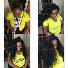 Deep Twist Braiding hair by Freetress Crochet braids African Braids Hairstyles, Protective Hairstyles, Weave Hairstyles, Pretty Hairstyles, Protective Styles, Hairstyle Ideas, Girl Hairstyles, Black Hairstyles, Crochet Braid Styles