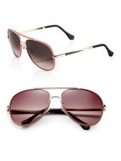 155581927e89e BALENCIAGA Leather-Trimmed 60Mm Aviator Sunglasses.  balenciaga  sunglasses