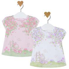 Mayoral Baby Girls Garden Bunny Novelty Print Knit Dress #Mayoral