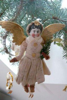 Christmas Tree Fairy, Christmas Makes, Christmas Past, Christmas Angels, Christmas Crafts, German Christmas, Christmas Things, Xmas, Antique Christmas Ornaments