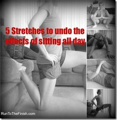 5 Hip Opening Stretches to undo the effects of sitting all day. Turns out, the prolonged sitting also affects your belly! Lose Lower Belly Fat, Lose Belly, Flat Belly, Lose Fat, Fitness Tips, Fitness Motivation, Health Fitness, Fitness Goals, Fitness Challenges