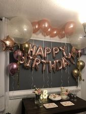 Latest Screen Birthday Decorations adultos Style You don't need to employ an interior developer to produce a massive assertion your … 15th Birthday Party Ideas, 16th Birthday Decorations, 20th Birthday, Gold Birthday, Surprise Birthday, Sweet 16 Birthday, Birthday Cake, Gold Party, Flag Garland