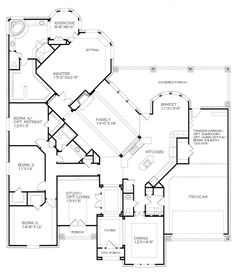 The Plan Studio - A Popular 1 Story<br>Scarborough Dream House Plans, House Floor Plans, My Dream Home, Open Floor Plans, One Level House Plans, One Level Homes, Unique Floor Plans, Building Plans, Building A House