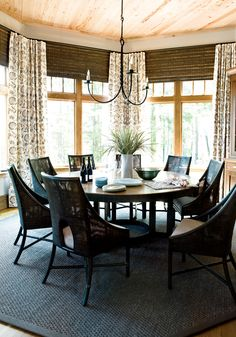 Always wanted a round dining table 9 PC Avenue 72  Round Dining Table Set with Lazy Susan by Steve  . Arlington Round Sienna Pedestal Dining Room Table W Chestnut Finish. Home Design Ideas