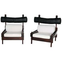 Pair of Tonica Series Chairs by Sergio Rodrigues | From a unique collection of antique and modern chairs at https://www.1stdibs.com/furniture/seating/chairs/