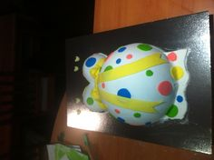 Poka dot belly cake