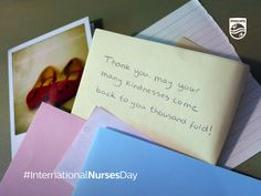 Want to say thank you to a nurse that has impacted your life? Download this card and post it on your social channels #InternationalNursesDay Nurses Day, Social Channel, Feel Good, Feelings, Sayings, Live, Cards, Lyrics, Maps